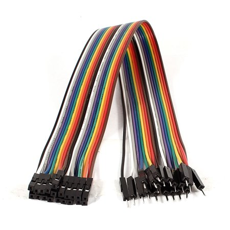 30cm 2.54mm 20Pin Male to Female m/f Connect Jumper Wire Cable Line