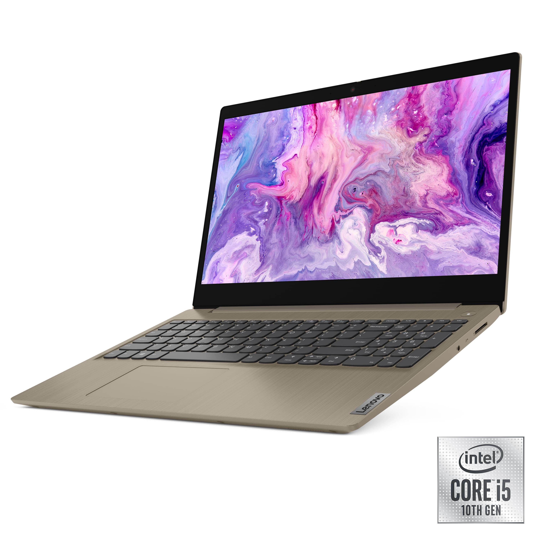 "Lenovo IdeaPad 3 15"" Laptop, Intel Core i5-1035G1 Quad-Core Processor, 8GB Memory, 256GB Solid State Drive, Windows 10, Almond, 81WE00EPUS (Google Classroom Compatible)"