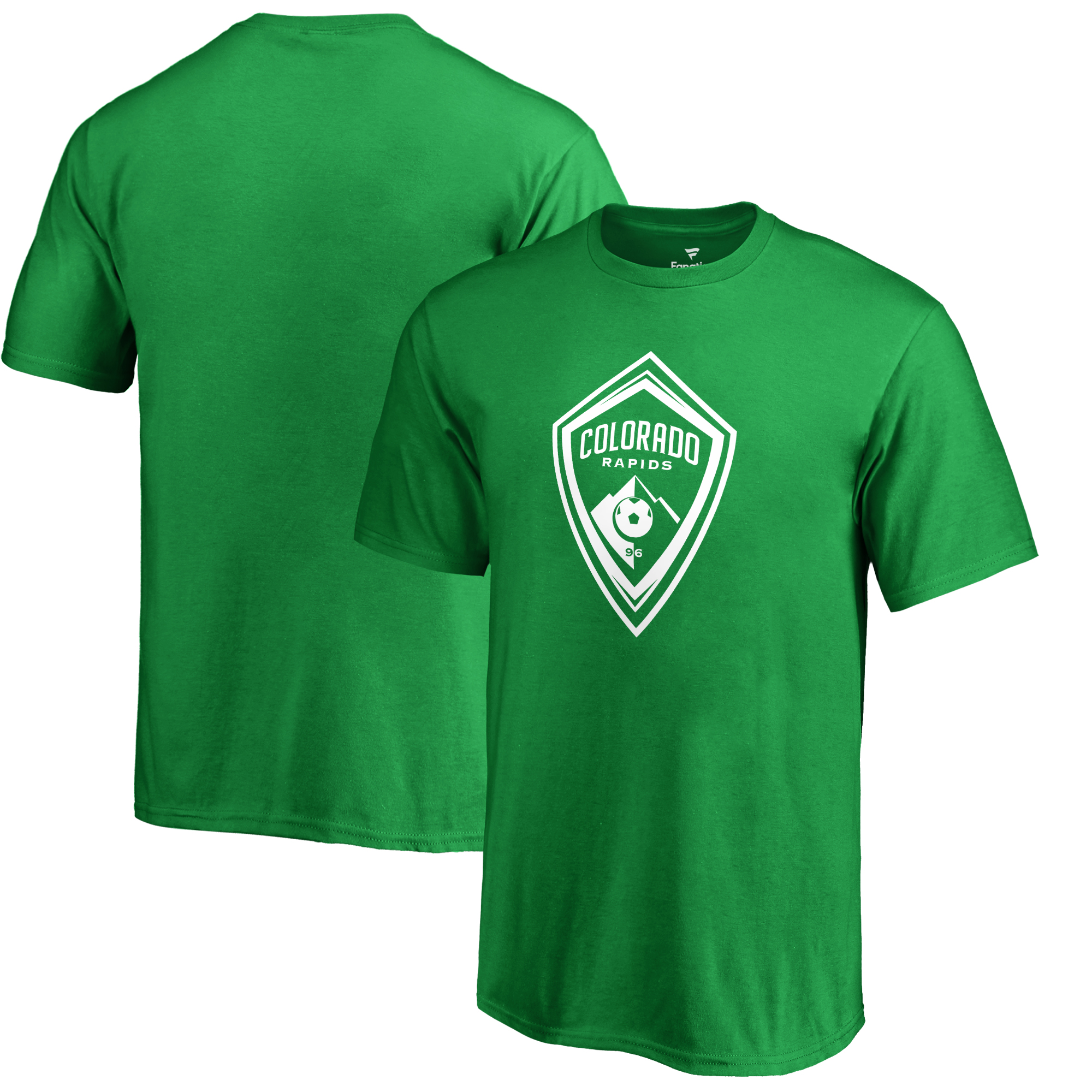 Colorado Rapids Fanatics Branded Youth St. Patrick's Day White Logo T-Shirt - Kelly Green