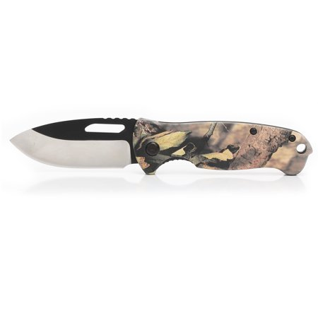 "Ozark Trail Camo Clip 2.75"" Knife, Blade with 4"" Handle, Model 7502"