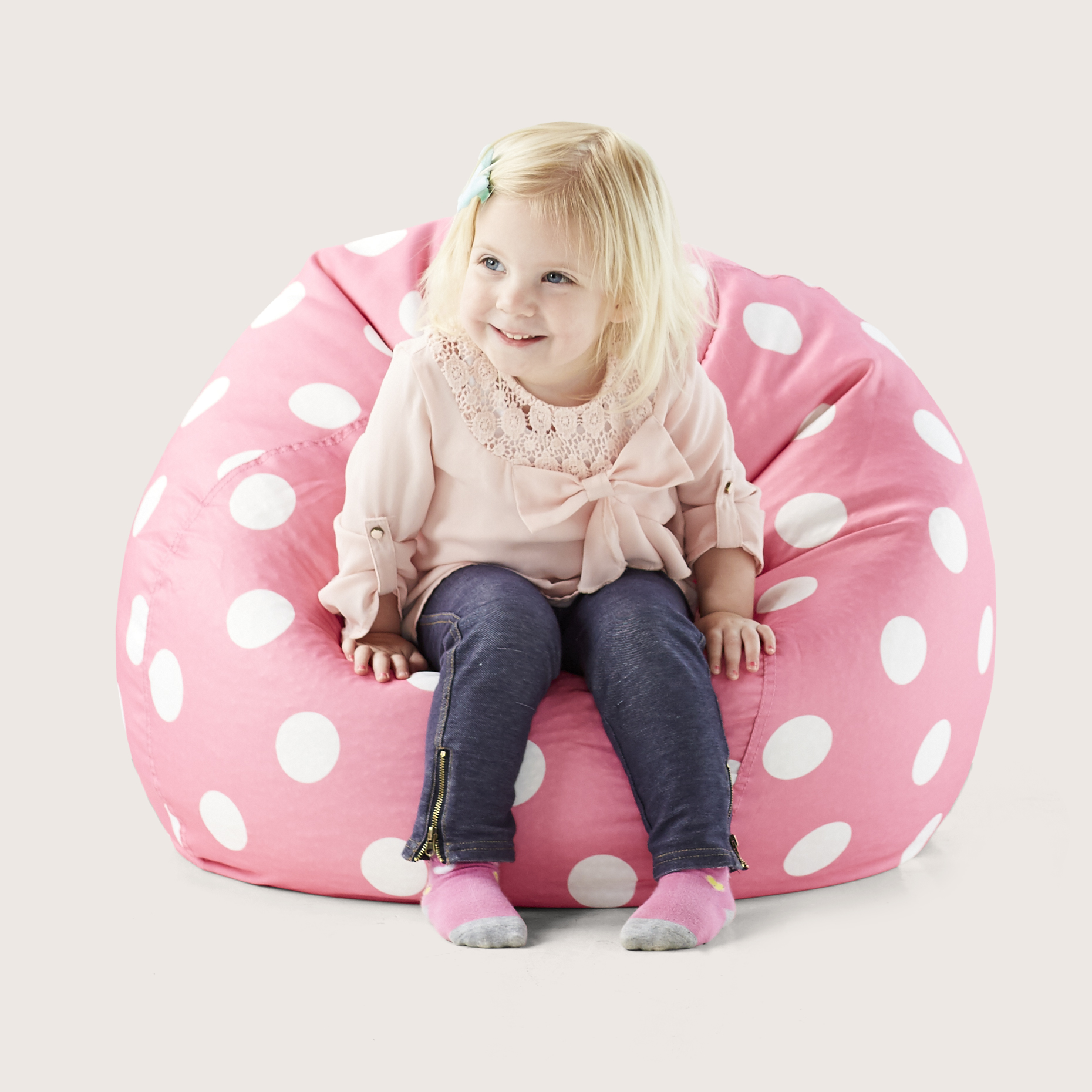 Big Joe Classic 88 Kids Polka Dot Bean Bag Chair, Multiple Colors