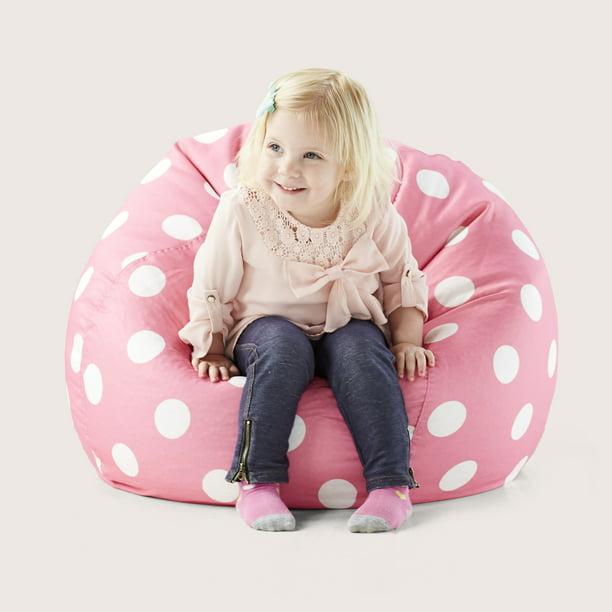 Big Joe Classic 88 Kids Polka Dot Bean Bag Chair, Multiple ...