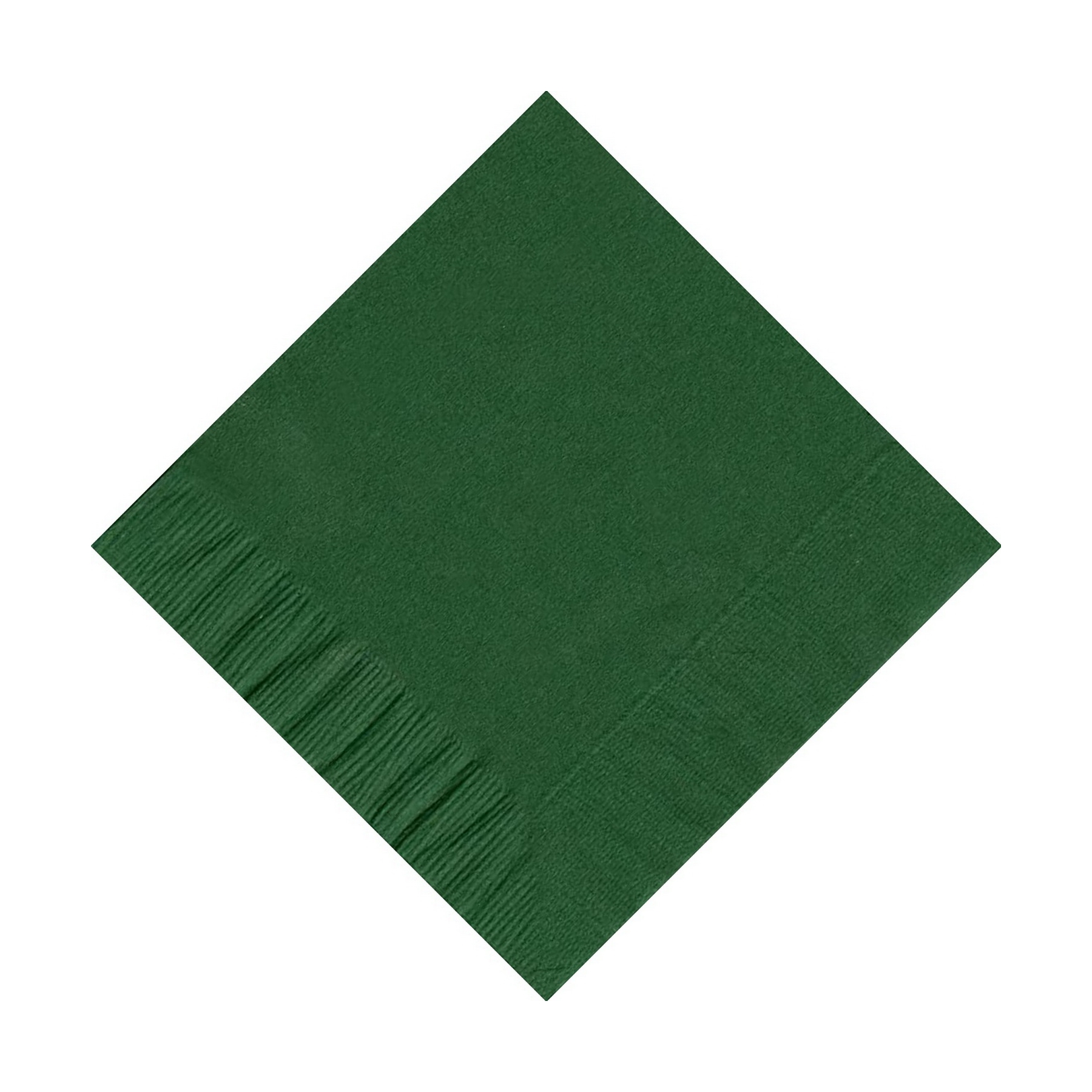 50 Plain Solid Colors Beverage Cocktail Napkins Paper Hunter Green by CREATIVE CONVERTING