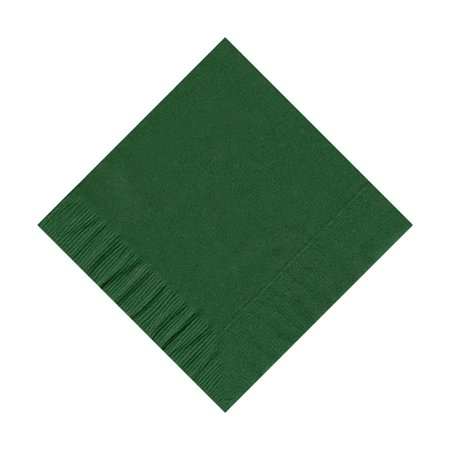 50 Plain Solid Colors Beverage Cocktail Napkins Paper - Hunter (Hunter Green Paper)