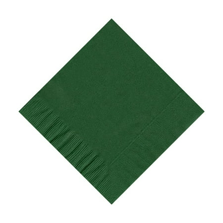50 Plain Solid Colors Beverage Cocktail Napkins Paper - Hunter Green - Glow In The Dark Napkins