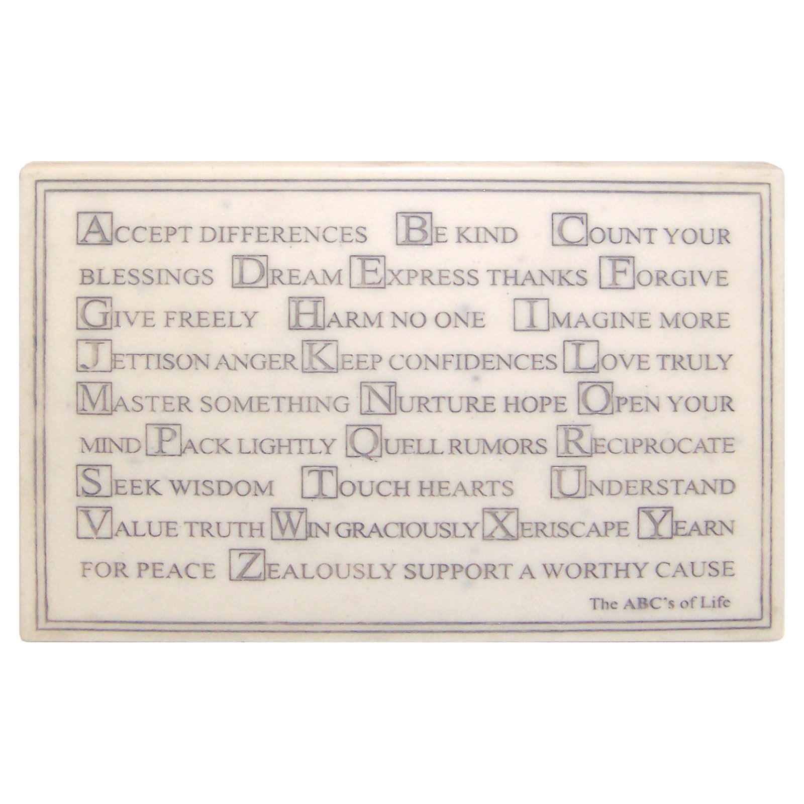 Mini ABCs of Life Garden Wall Plaque with Stand
