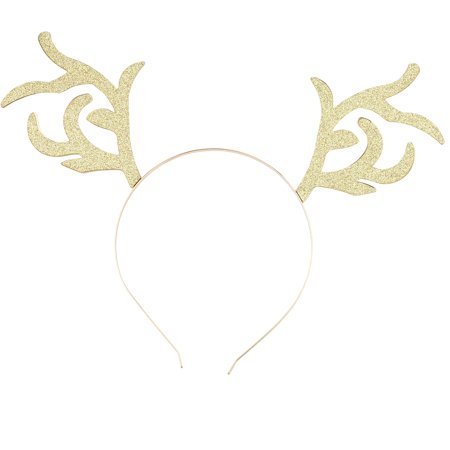 Lux Accessories Gold Tone Glitter Christmas Holiday Xmas Reindeer - Christmas Headband Ideas