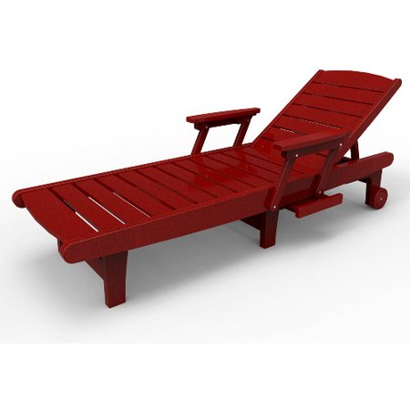 Chaise lounge by malibu outdoor delray red for Chaise lounge at walmart