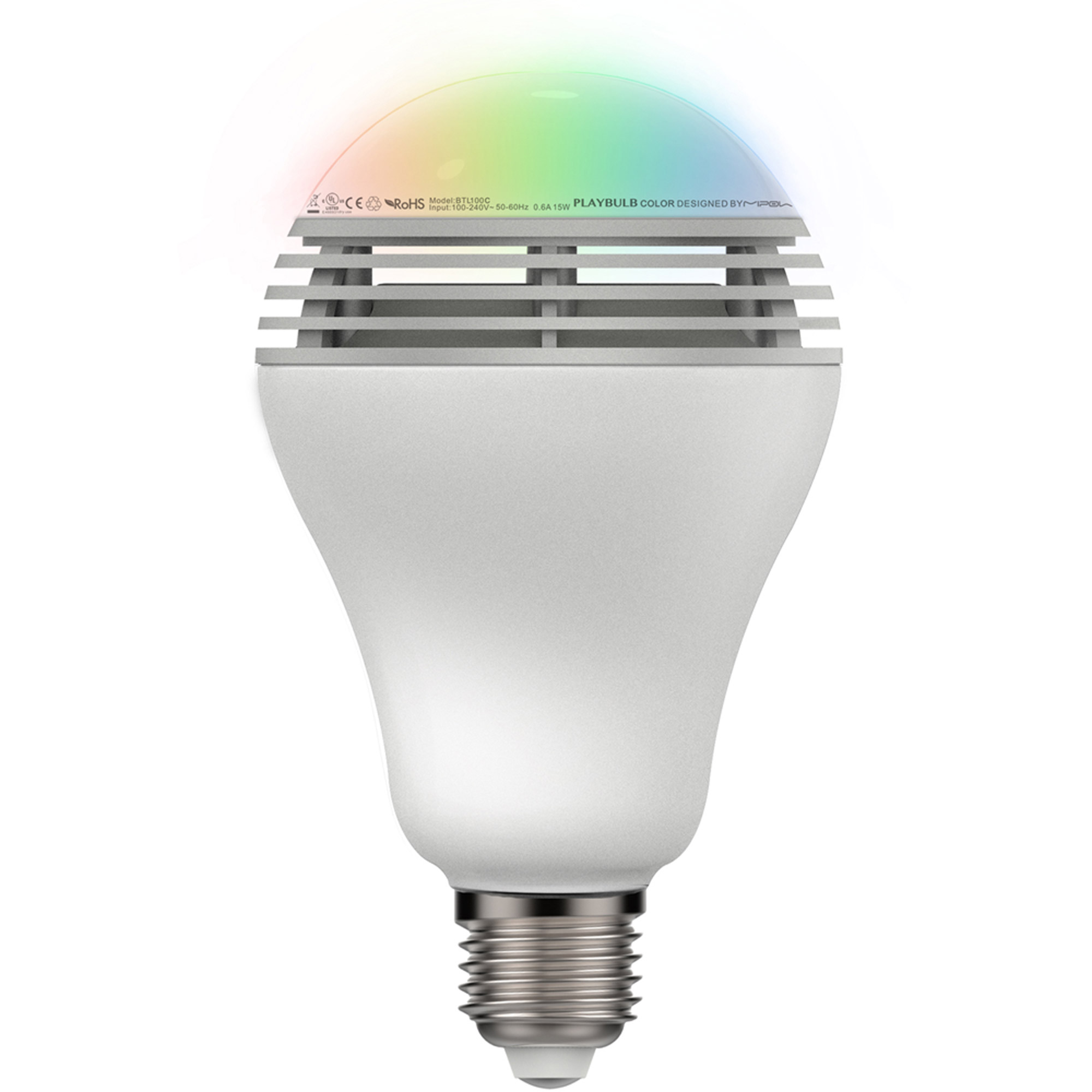 MIPOW BTL-100C-WT-WW PLAYBULB App Control Speaker Light Bulb, Warm White