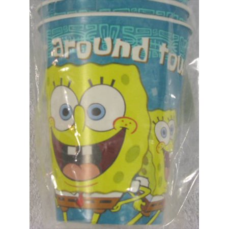 SpongeBob SquarePants  'Wonderful Time' 9oz Paper Cups (8ct) (Spongebob Cup)
