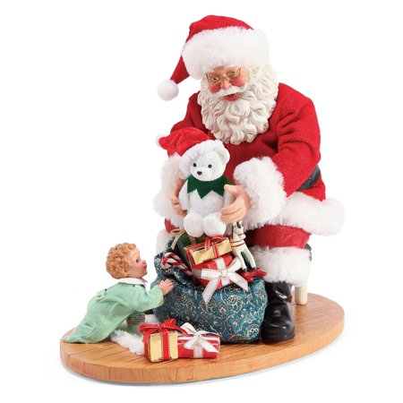 Possible Dreams Christmas Traditions Christmas Surprise Santa Figurine #6003845