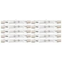 Pack Of 10 100Watt 78MM 120 Volt T3 100W Short Double Ended Halogen 120V Light Bulbs