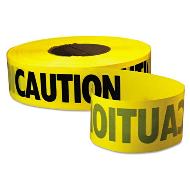 Empire.  771001 Caution Barricade Tape, 3'' x 1000ft, Yellow/Black
