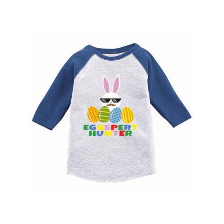 Awkward Styles Eggspert Hunter Toddler Raglan Easter T Shirt Kids Easter 3/4 Sleeve Shirt for Toddler Easter Holiday Outfit Funny Easter Gifts for Toddler Girls Easter Bunny Shirt for Toddler Boys](Kids Holiday Clothing)