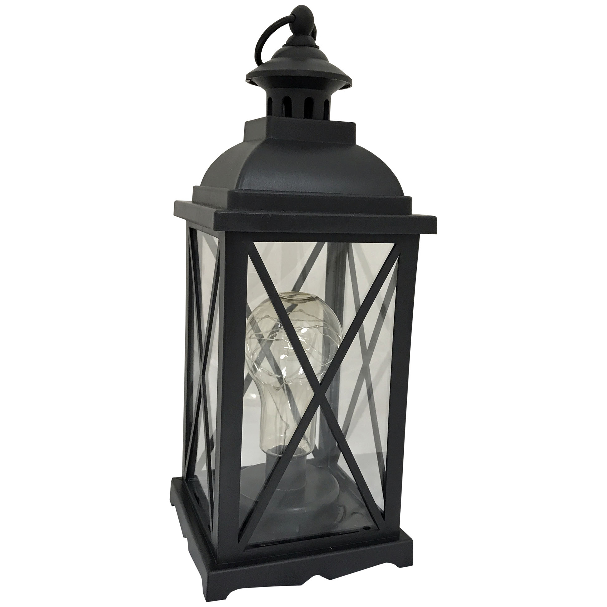 "Battery-Operated Decorative LED Lantern; Product Size: 14"" height, 5.5 width x 5.5 inch despth. Indoors/ Outdoors, Portable, Home, yard decor"