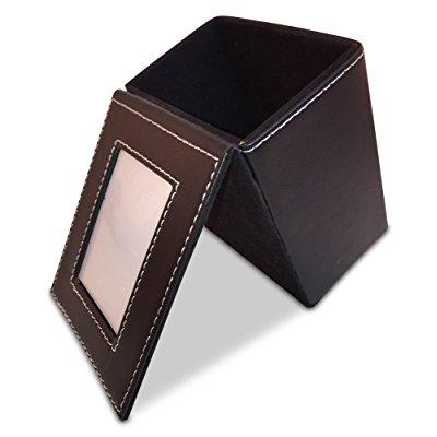 Gift Tree Leather Square Pens Pencils Holder With Picture Frame