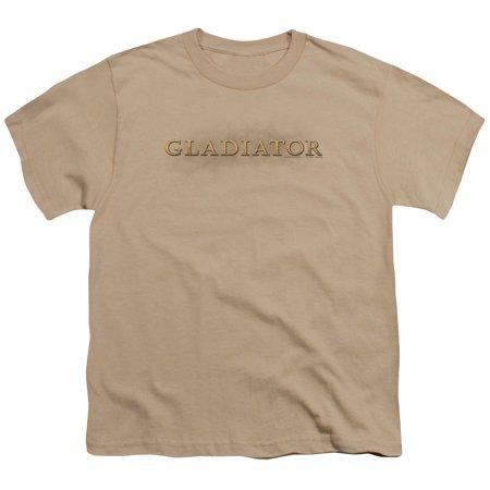 Gladiator Logo Big Boys Youth Shirt (Sand, - Gladiator Boy