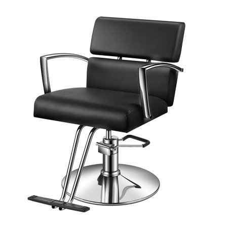 Strange Baasha Black Salon Chairs With Hydraulic Pump Salon Hydraulic Styling Chair Black All Purpose Salon Chair Heavy Duty Barber Chair For Hair Stylist Bralicious Painted Fabric Chair Ideas Braliciousco