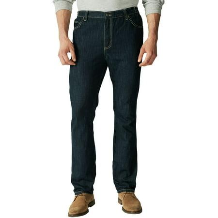 Liberty Blues Men's Big & Tall Athletic Fit Side Elastic 5-Pocket Jeans