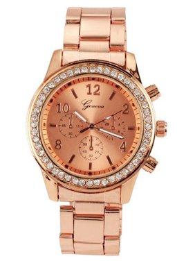Stylish Watch Ladies Women Girl Unisex Stainless Steel Analog Quartz Wrist Watch KMIMT