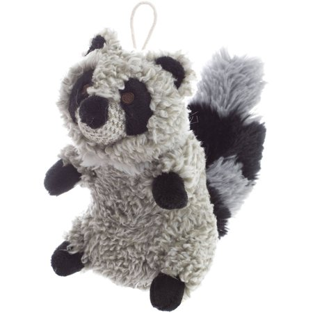 Fleece Squeaky Toy - Super Soft Squeaky Dog Toy, Raccoon, 6.5