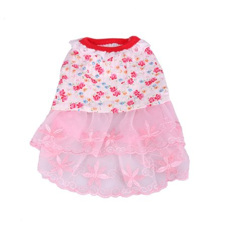 Cute Clothes For Puppies (Stylish Cute Colorful Flower Dress & Skirt for Pet Dog Puppy Fashion Clothes)