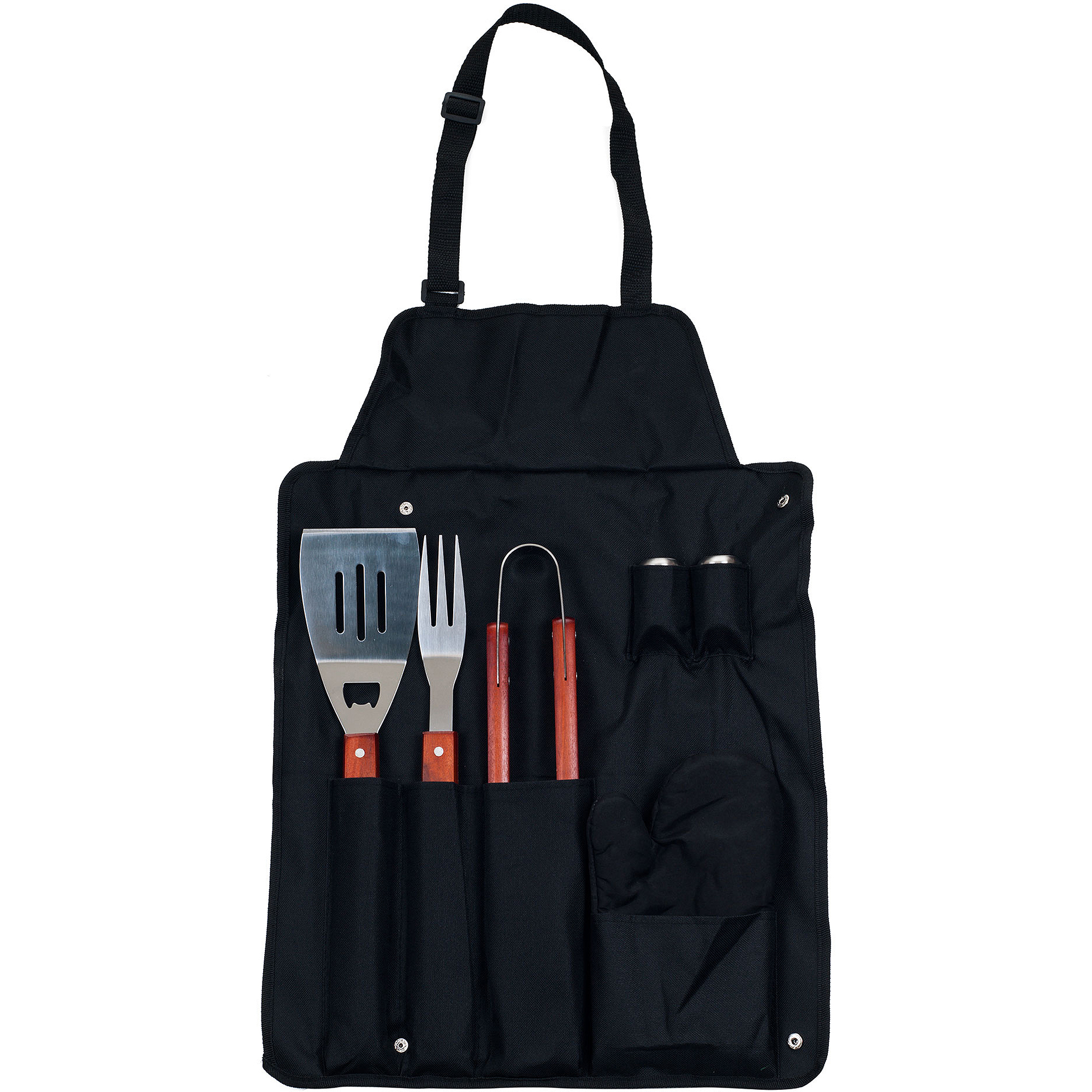 Chef Buddy 7-Piece BBQ Apron and Utensil Set