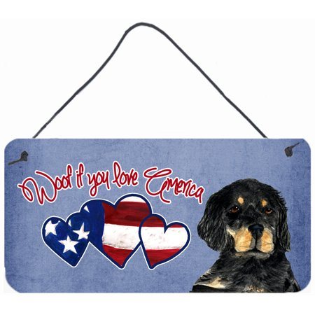 Woof if you love America Gordon Setter Wall or Door Hanging Prints SS5026DS612