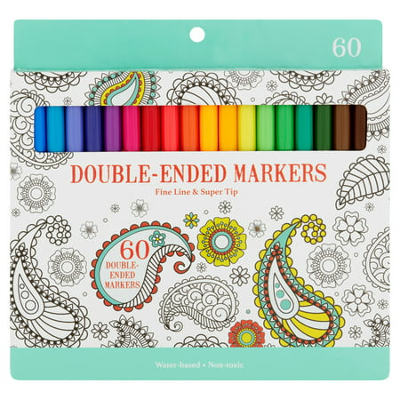 double ended markers 60 count - Walmart Coloring Books