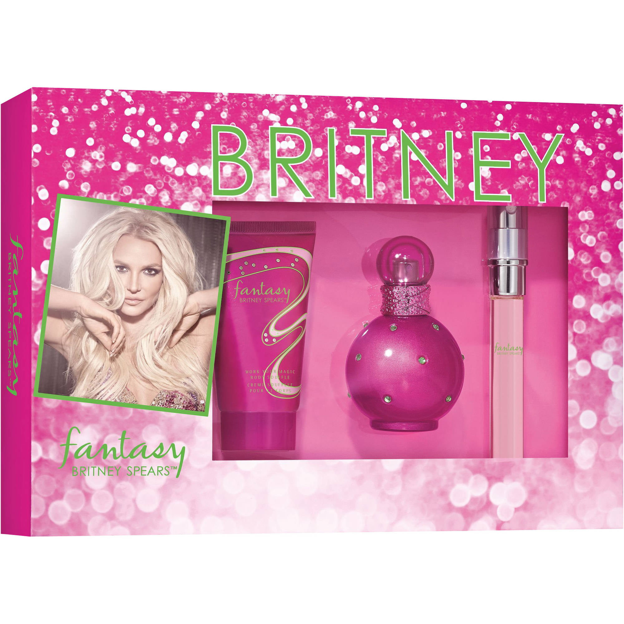 Britney Spears Fantasy Fragrance for Women, 3 pc