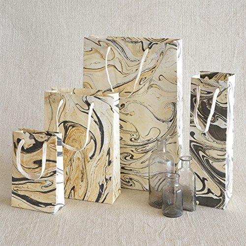 HomArt Marbleized Paper Gift Bag - Lrg (Grey)