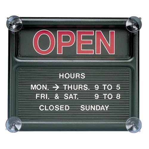 Black Open/Closed Sign