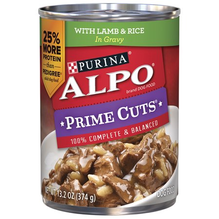 Purina Alpo Prime Cuts With Lamb   Rice In Gravy Dog Food 13 2 Oz  Can