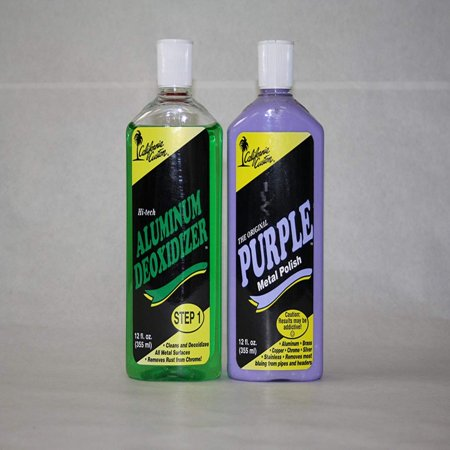 Custom Classic Combo (Purple Metal Polish/deoxidizer Combo, Aluminum Polishing By California Custom Products )