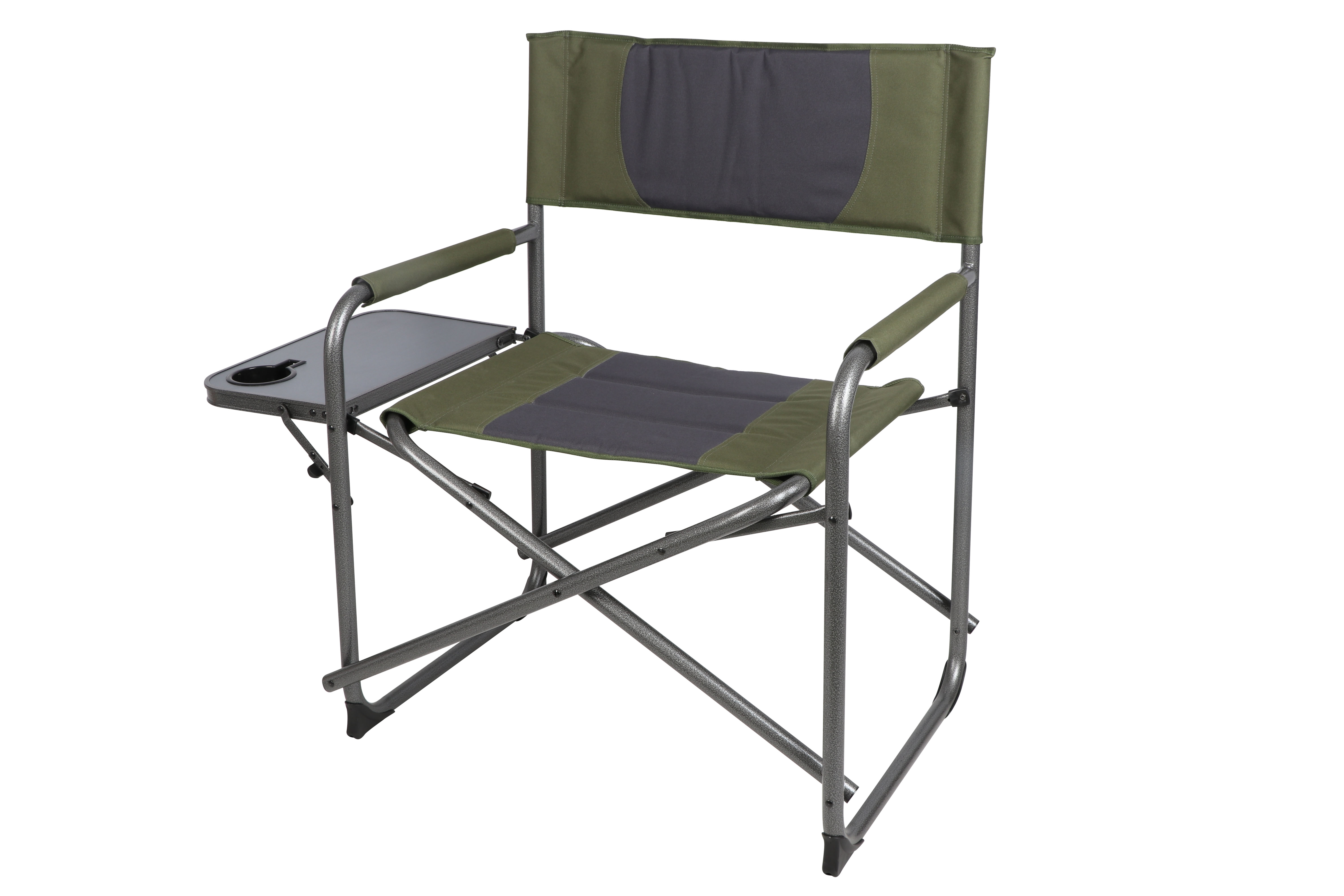 Sensational Ozark Trail Oversized Directors Camping Chair With Side Table Green Grey Walmart Com Ibusinesslaw Wood Chair Design Ideas Ibusinesslaworg