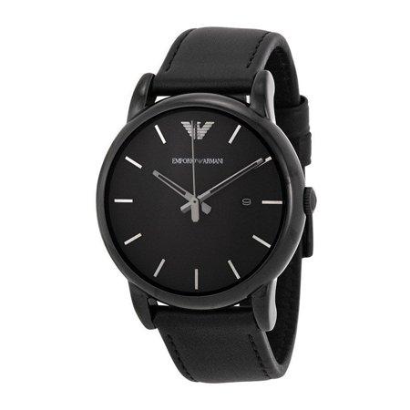 fde7f22c emporio armani men's ar1732 'classic' black leather watch