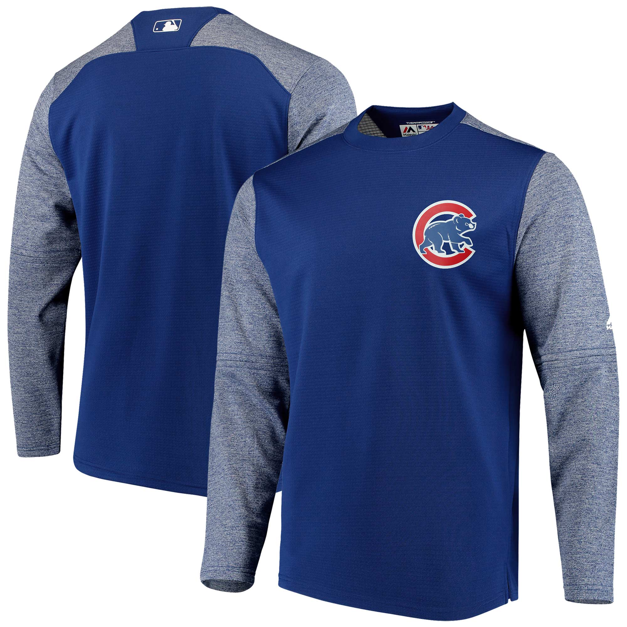 Chicago Cubs Majestic Authentic Collection On-Field Tech Fleece Pullover Sweatshirt - Royal