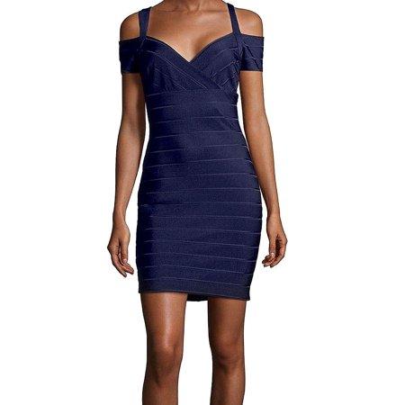 Guess Midnight Womens Cold Shoulder Sheath Dress
