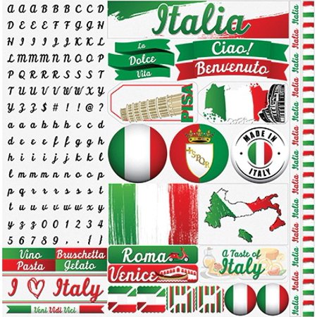 Italy Elements Sticker Sheet - Reminisce