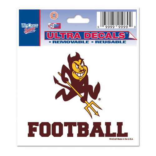 "Arizona State Sun Devils Official NCAA 3"" x 4"" Automotive Car Decal 3x4 by Wincraft 709318"
