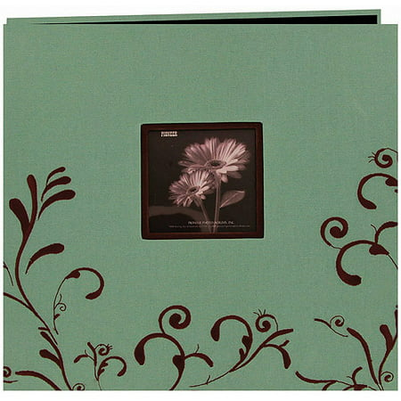Scroll Embroidery Fabric Postbound Album With Window, 12