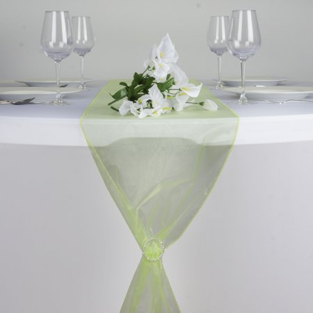 "BalsaCircle 14"" x 108"" Organza Table Top Runner - Wedding Party Reception Linens Dinner Event Decorations"