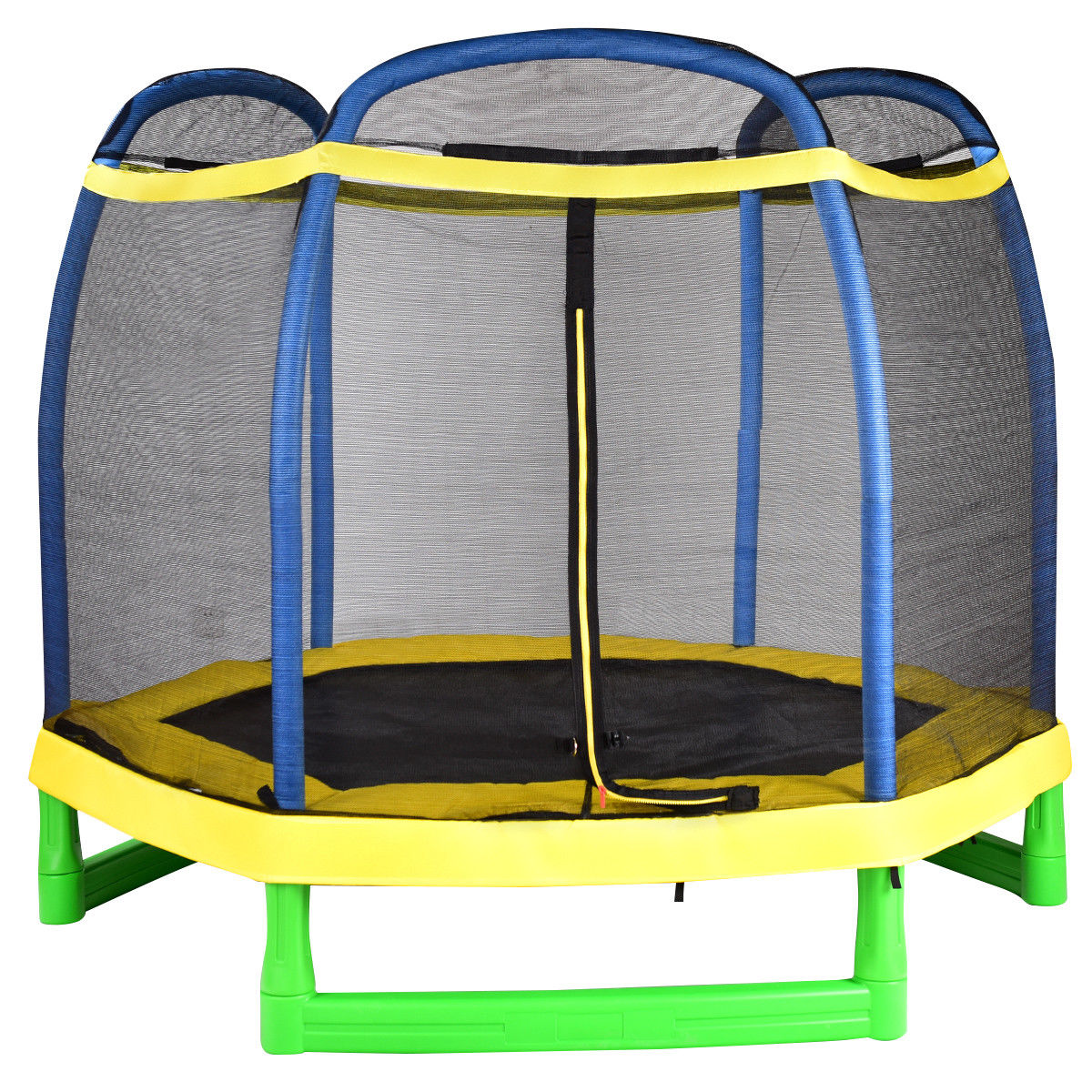 7' Youth Jumping Trampoline Combo Outdoor Bouncer Kids Exercise With Safety Net