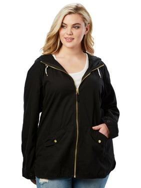 c86e2c0f990 Product Image Roaman s Denim 24 7 Plus Size Hooded Anorak Jacket