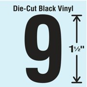 STRANCO INC DBV-1.5-9-10 Die Cut Number Label, 9, 10 Cards,PK10