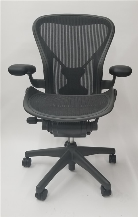 Herman Miller Aeron Chair Size B (or C) Basic Model With Posturefit Executive  sc 1 st  Walmart : aeron chair back pain - Cheerinfomania.Com