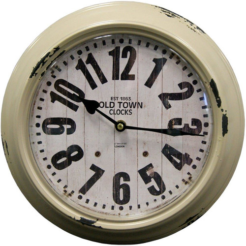 HDC International 12'' Metal Round Wall Clock