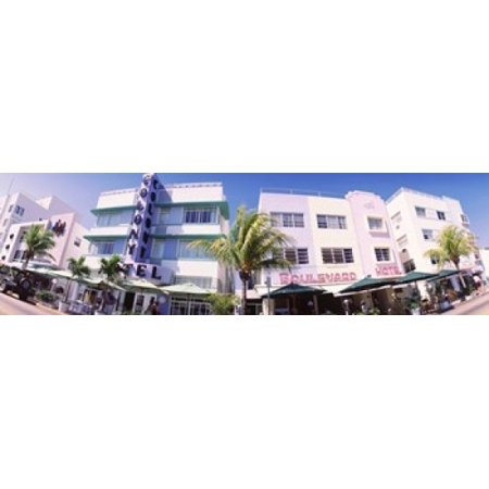 Low angle view of buildings in a city Miami Beach Florida USA Poster Print](Party City In Miami Gardens)