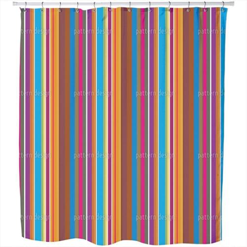 Uneekee Colorful Stripes Shower Curtain
