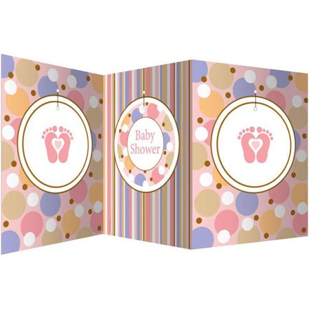 Tiny Toms Pink (Baby Shower 'Tiny Toes Pink' Stand-Up Centerpiece)